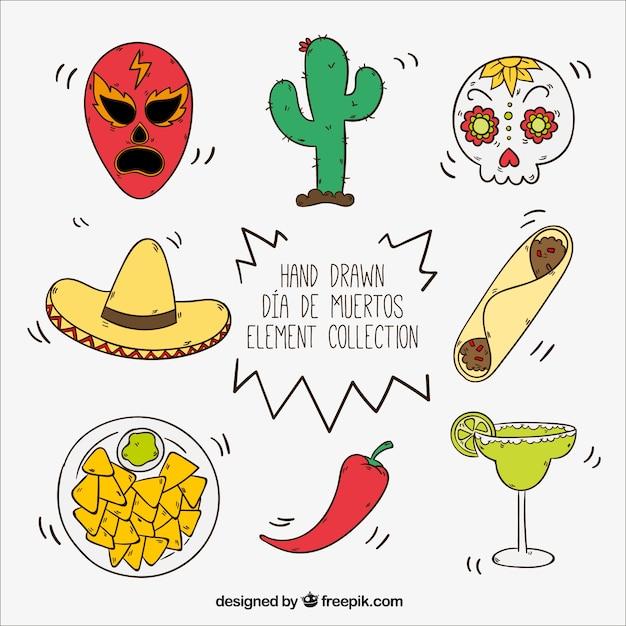 Set Dibujado A Mano De Art 237 Culos Mexicanos Descargar