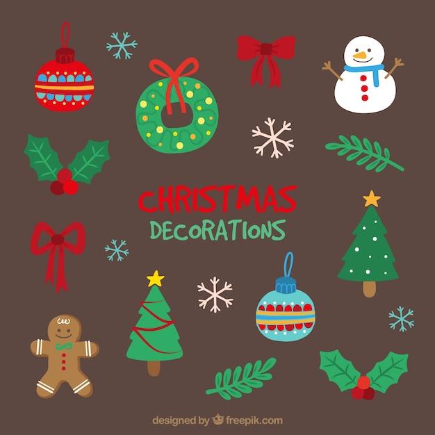 Set dibujado a mano de objetos fant sticos para navidad descargar vectores gratis - Objetos de navidad ...