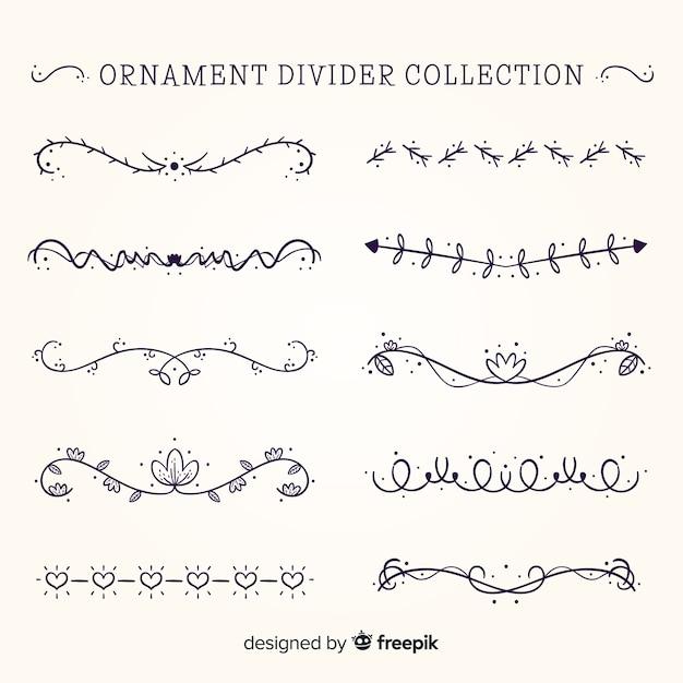 Set de elementos divisorios vector gratuito