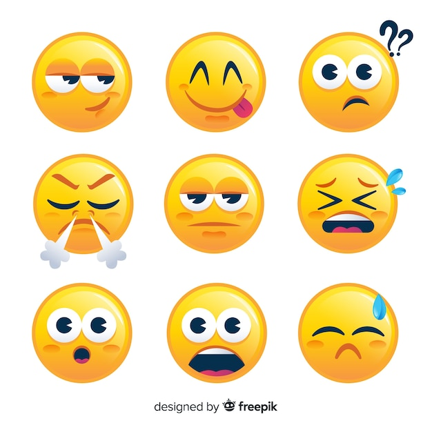 Set de emoticones Vector Premium