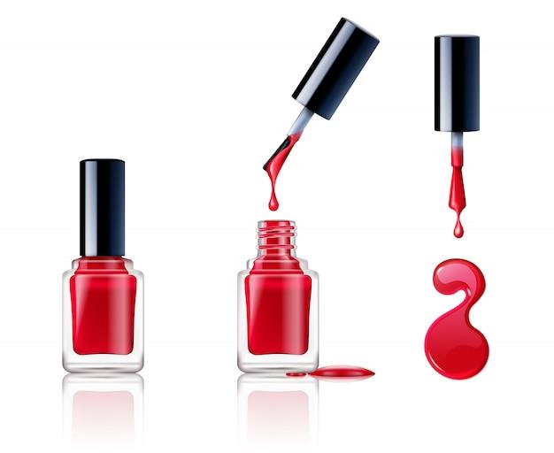Set de esmalte de uñas vector gratuito