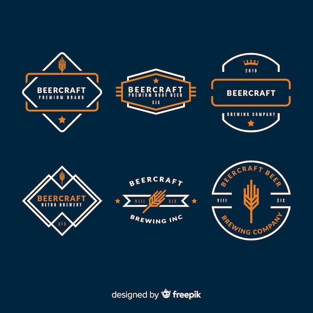 Set de etiquetas de cerveza vector gratuito