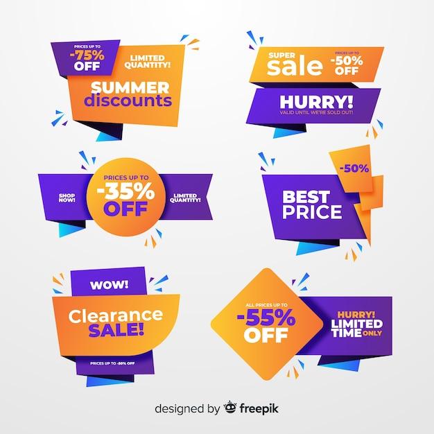 Set de etiquetas de compras vector gratuito