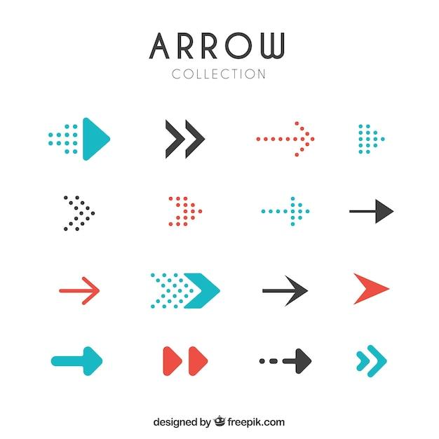 Set de flechas modernas vector gratuito