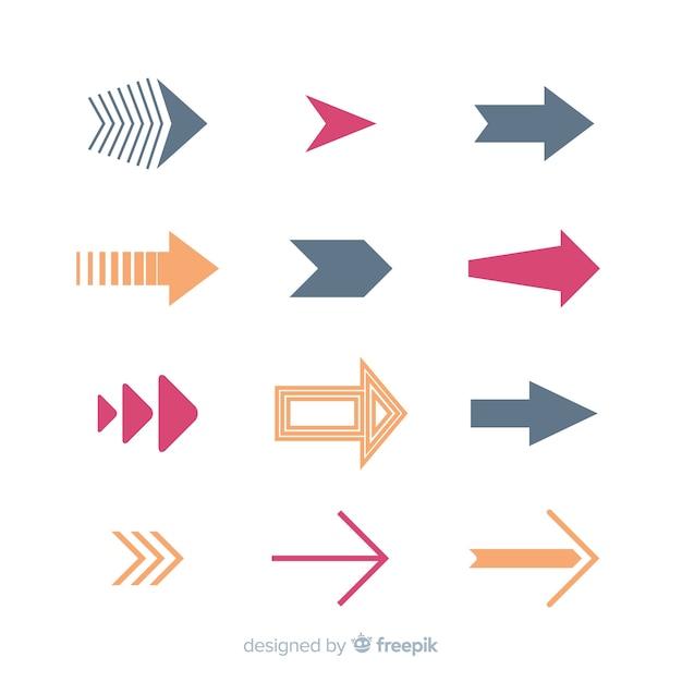Set de flechas vector gratuito