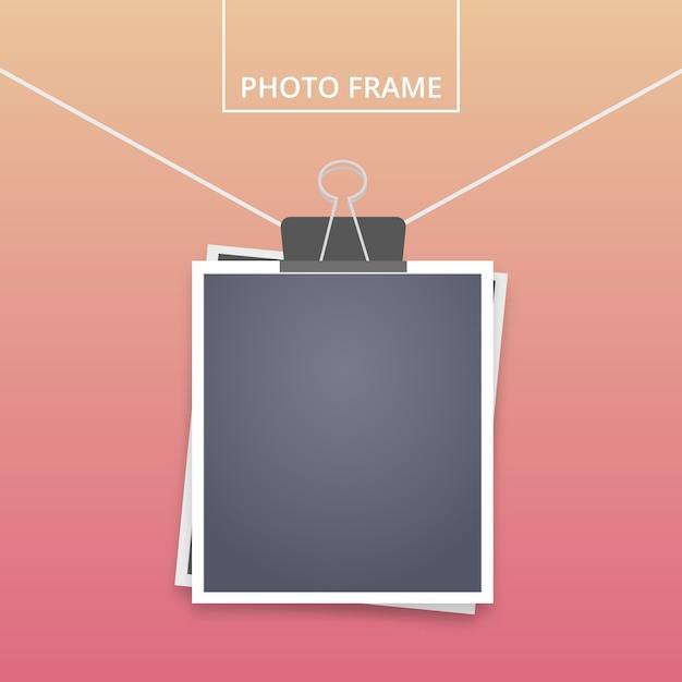 Set de fotografías instantáneas vector gratuito