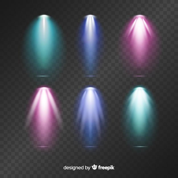 Set de iluminación de escena vector gratuito