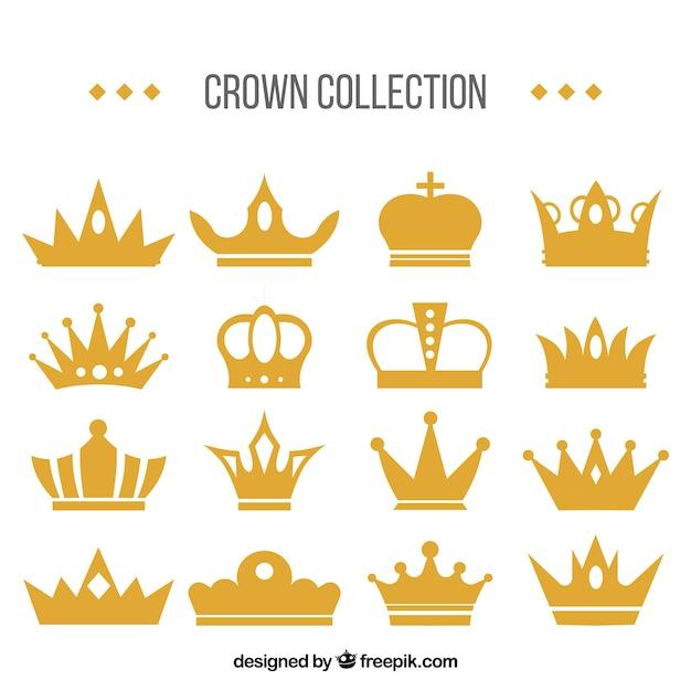 Set impresionante de coronas decorativas vector gratuito