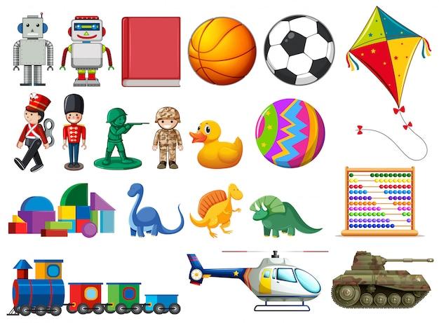 Set de juguetes infantiles vector gratuito