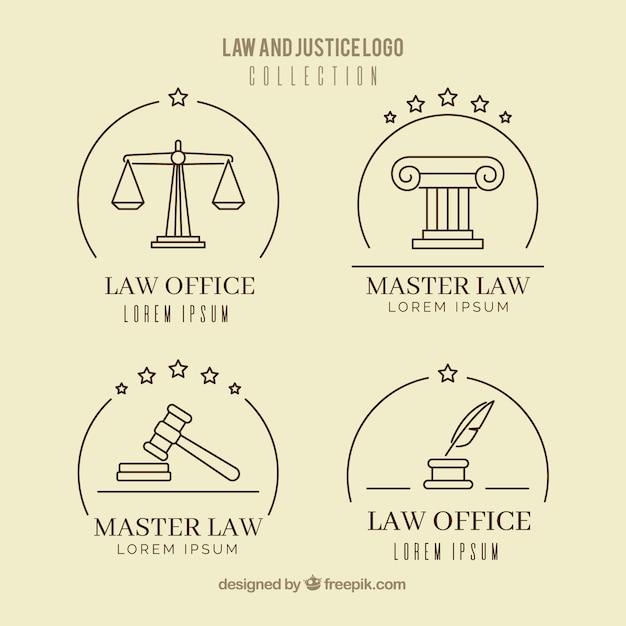 Set de logotipos de derecho vector gratuito