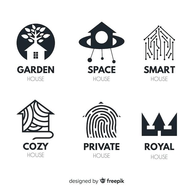 Set de logotipos de inmobiliarias vector gratuito