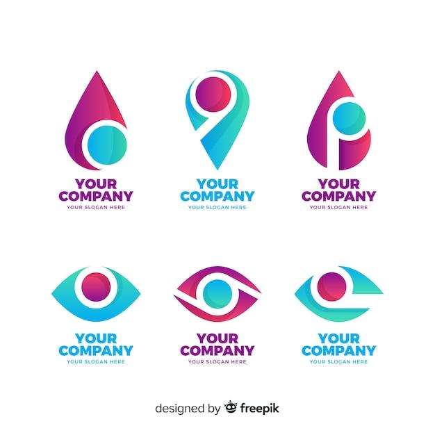 Set de logotipos vector gratuito