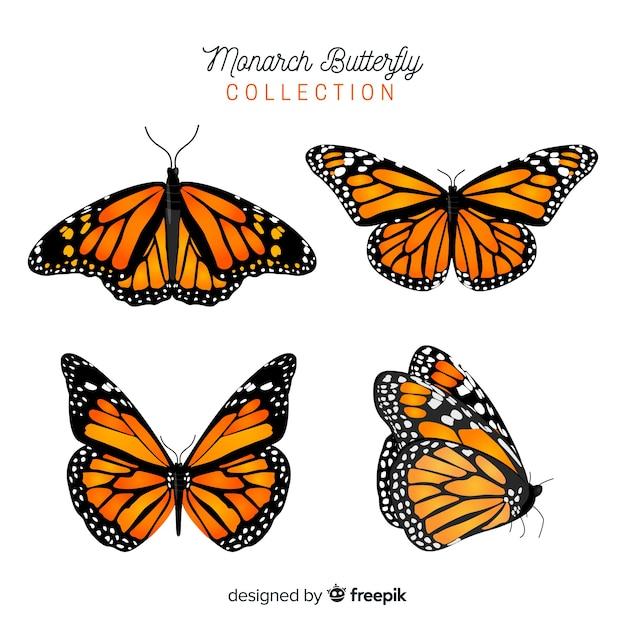 Set de mariposas vector gratuito