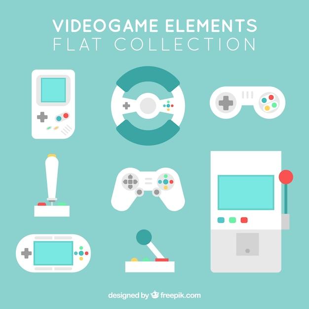 Set de objetos para videojuegos vector gratuito