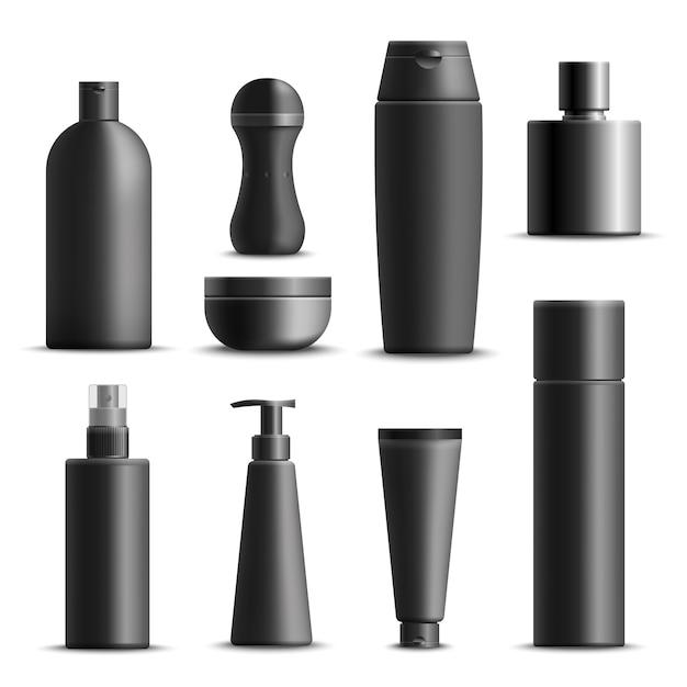 Set realista de cosméticos para hombre vector gratuito