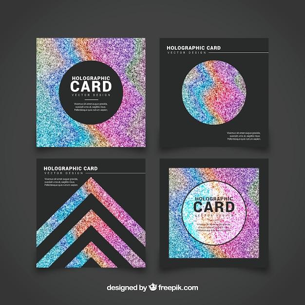 Set De Tarjetas De Brillantina De Colores Descargar Vectores Gratis