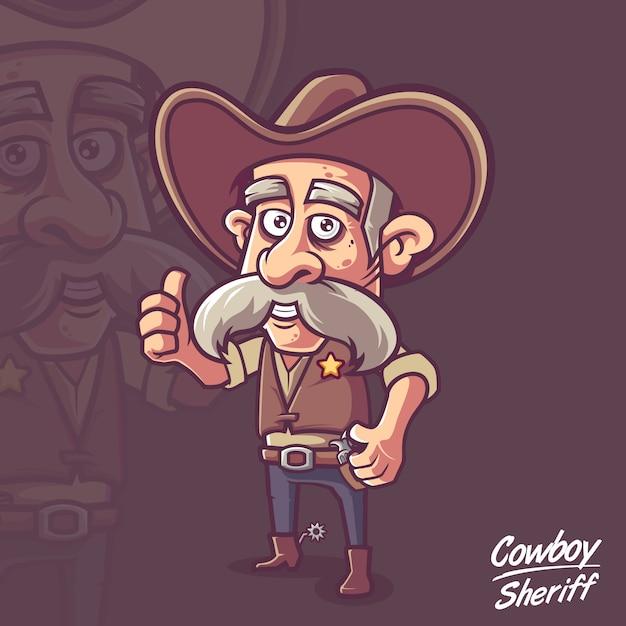 Sheriff vaquero ancianos marshall Vector Premium