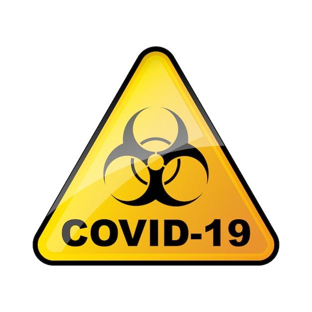 Signo de coronavirus de riesgo biológico. no hay señal covid-19 ...