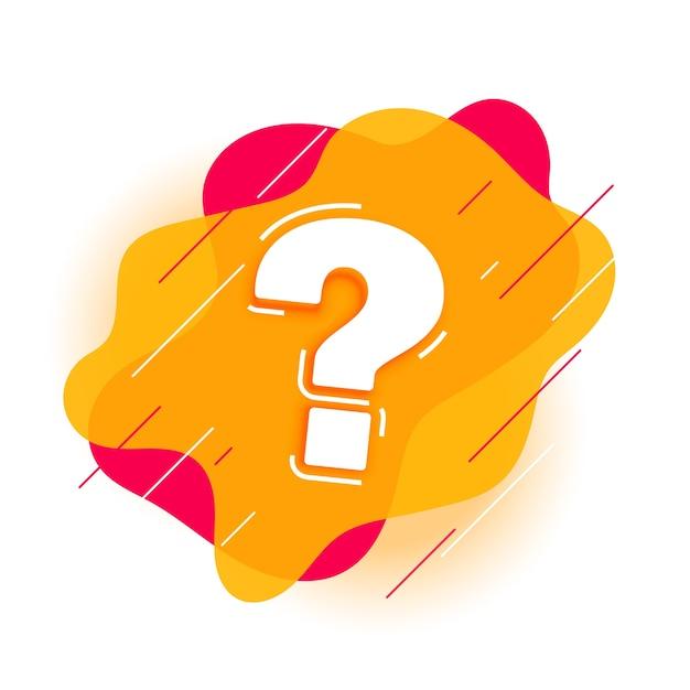 Signo de interrogación moderno para la página de ayuda y soporte vector gratuito