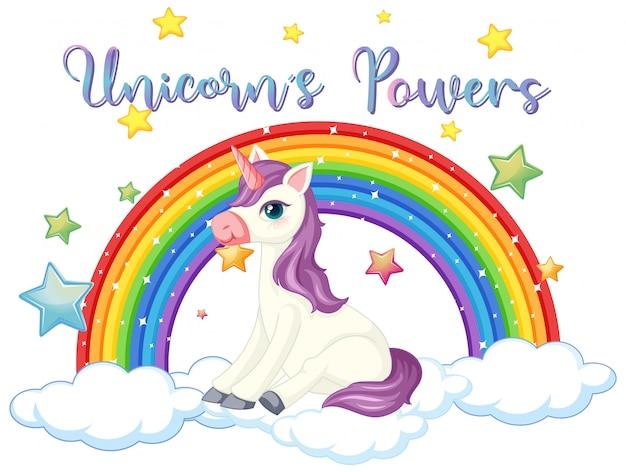 Signo de poder unicornio sobre fondo blanco. vector gratuito