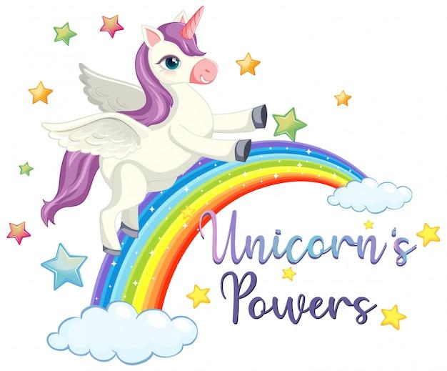 Signo de poder de unicornio sobre fondo blanco. vector gratuito