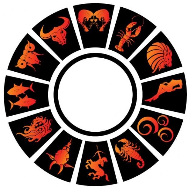 Signos del zodiaco clip art Vector Gratis