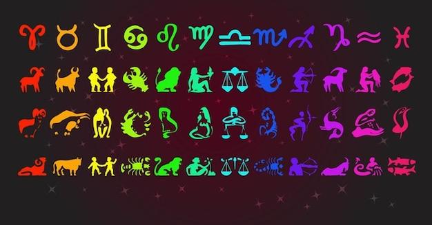 signos del zodiaco Vector Gratis