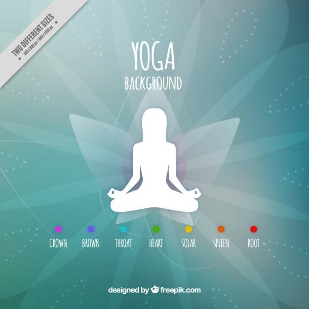 Silueta blanca resumen de antecedentes de yoga | Descargar ...