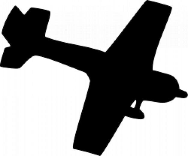 silueta de avión Vector Gratis