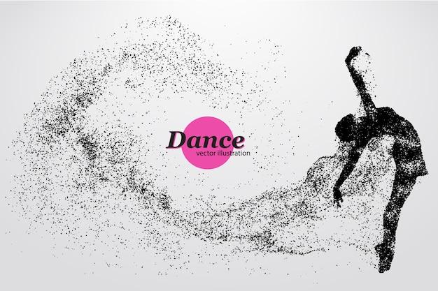 Silueta de una ilustración de bailarina Vector Premium