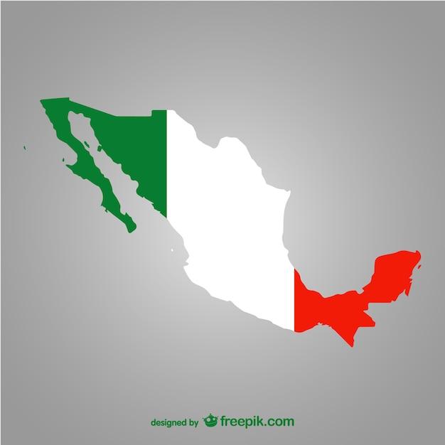 Silueta De México Vector Descargar Vectores Gratis
