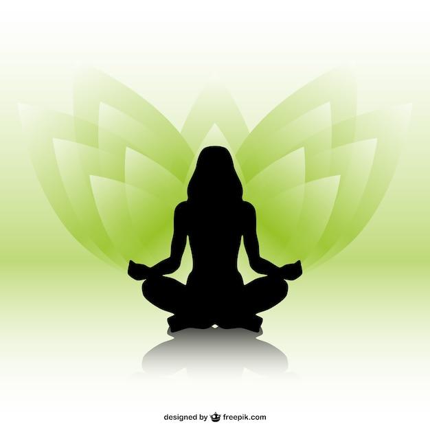 Silueta de mujer practicando yoga  6be3881fadac