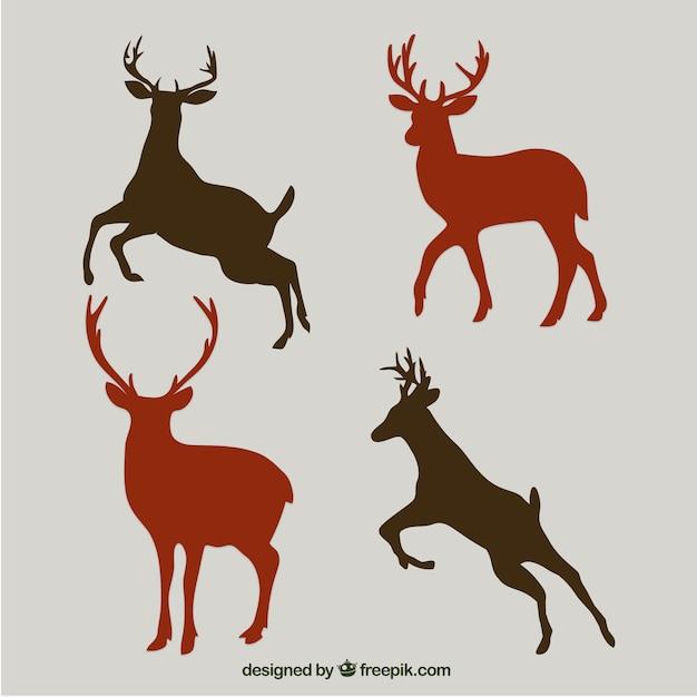 Siluetas de ciervo | Descargar Vectores Premium