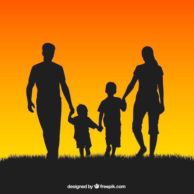 Silueta Familia | Fotos y Vectores gratis