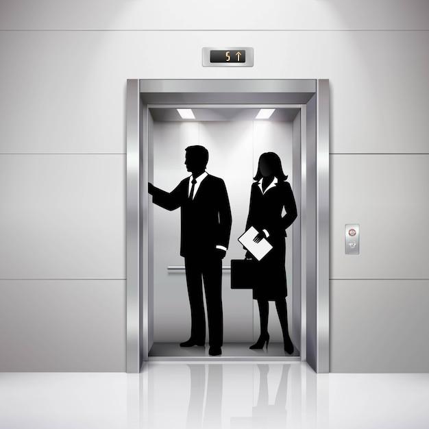 Siluetas de hombre y mujer formalmente vestidas vector gratuito