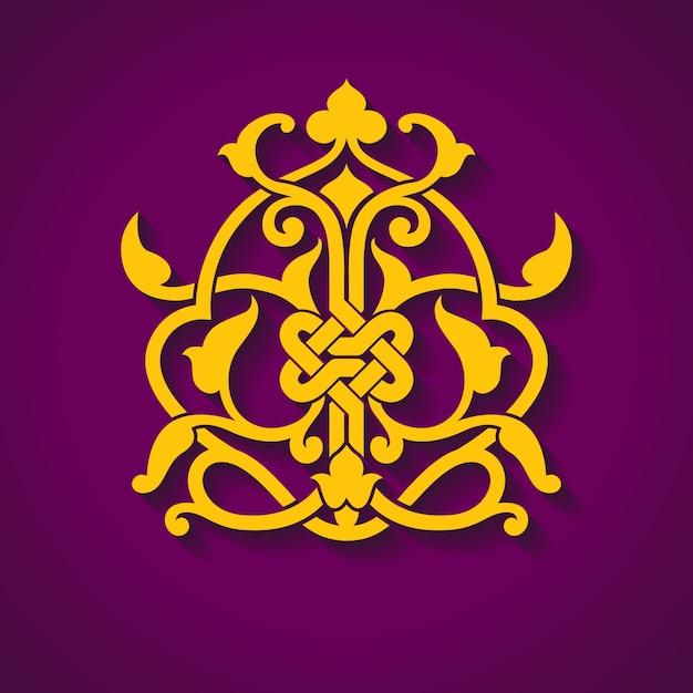 Símbolo árabe abstracto vector gratuito