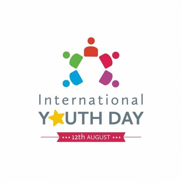 Símbolo del día internacional de la juventud vector gratuito
