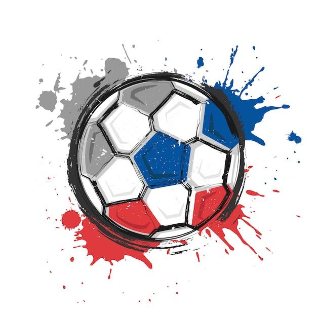 Símbolo del equipo de fútbol de rusia. pintura realista del arte de la ...