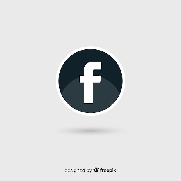 Símbolo De Facebook Blanco Y Negro Descargar Vectores Gratis