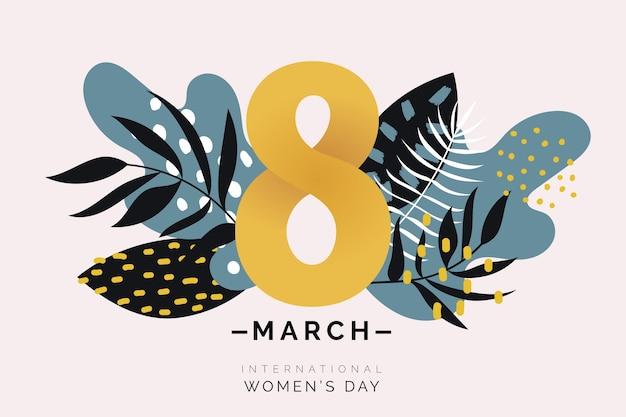 Símbolo floral del día de la mujer vector gratuito