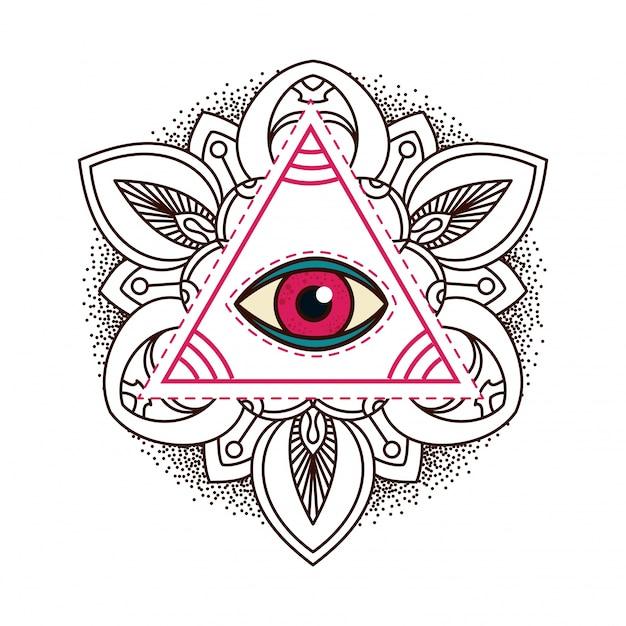 343c594727295 Símbolo de la pirámide del ojo que todo lo ve.