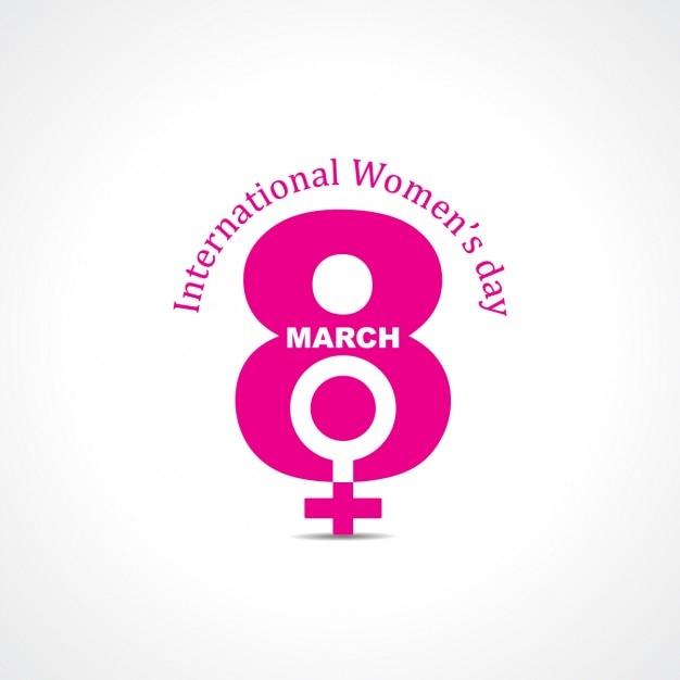 Símbolo Rosa Del Día Internacional De Las Mujeres Vector Gratis