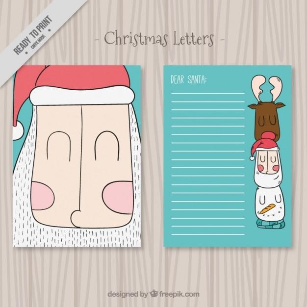 Fotos Simpaticas De Papa Noel.Simpaticas Cartas De Navidad De Papa Noel Descargar