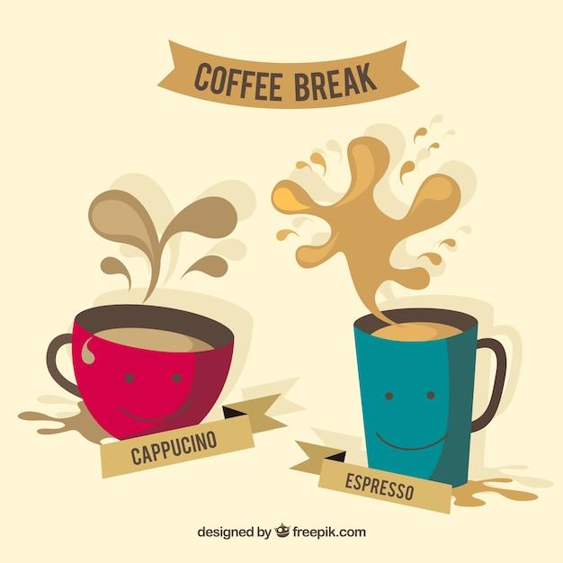 Simp ticas tazas de caf descargar vectores gratis for Tazas para cafe espresso