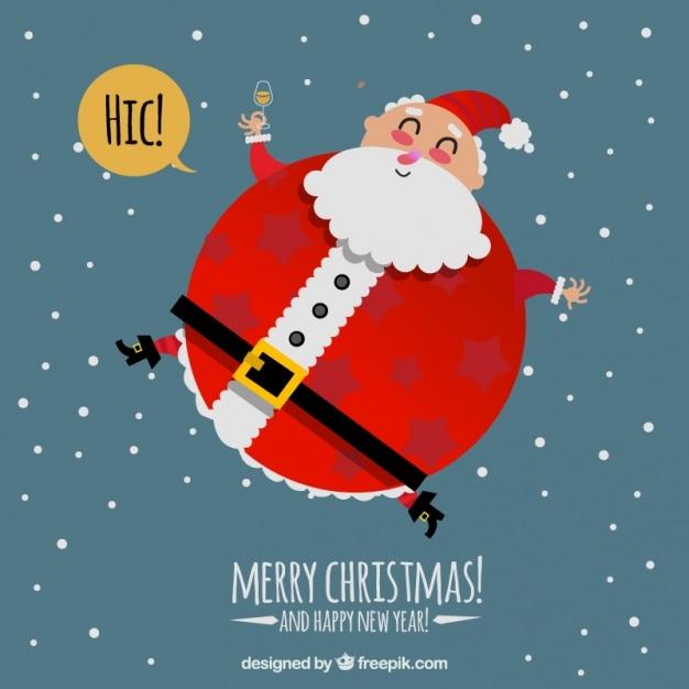Fotos Simpaticas De Papa Noel.Simpatico Fondo De Gran Papa Noel Descargar Vectores Gratis