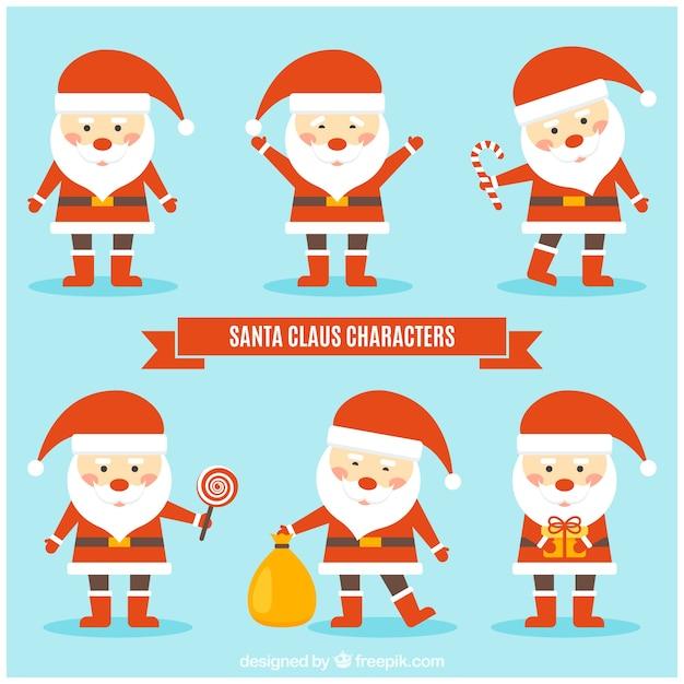 Fotos Simpaticas De Papa Noel.Simpatico Papa Noel Con Elementos De Navidad Descargar