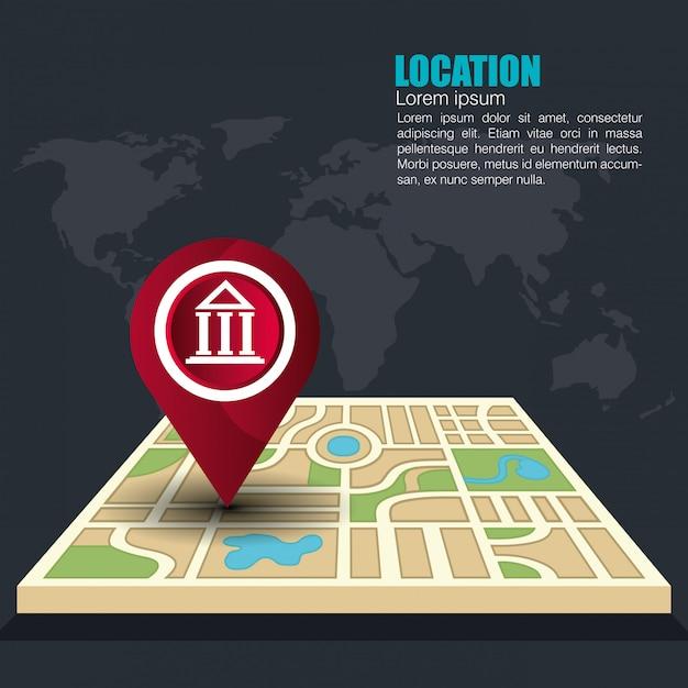 Sistema de localización geográfica vector gratuito
