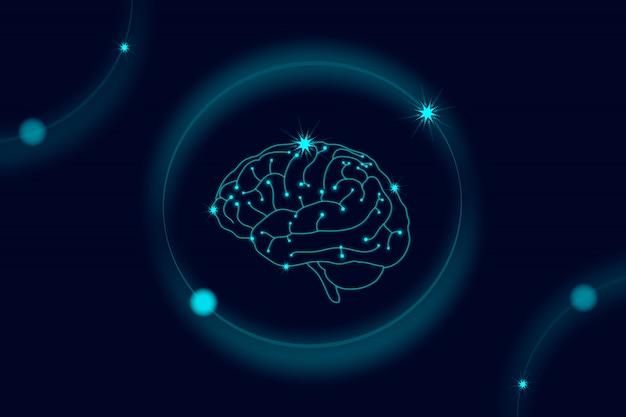 Sistema nervioso humano vector gratuito