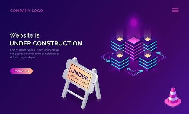 Sitio web en construcción, error de trabajo de mantenimiento vector gratuito