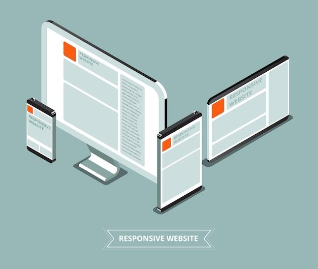 Sitio web receptivo con diferentes dispositivos | Descargar ...
